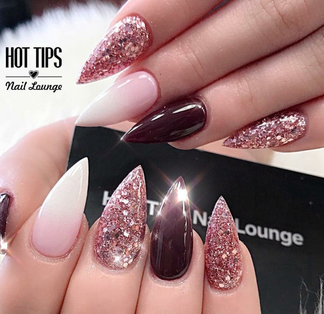 Stiletto Nails Fall Nails Burgundy Nails Ombre Nails Glitter Nails Acrylic Nails Ombre Nails Burgundy Nails Fall Acrylic Nails