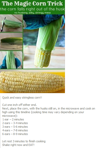 Microwave Corn On The Cob Timetables I