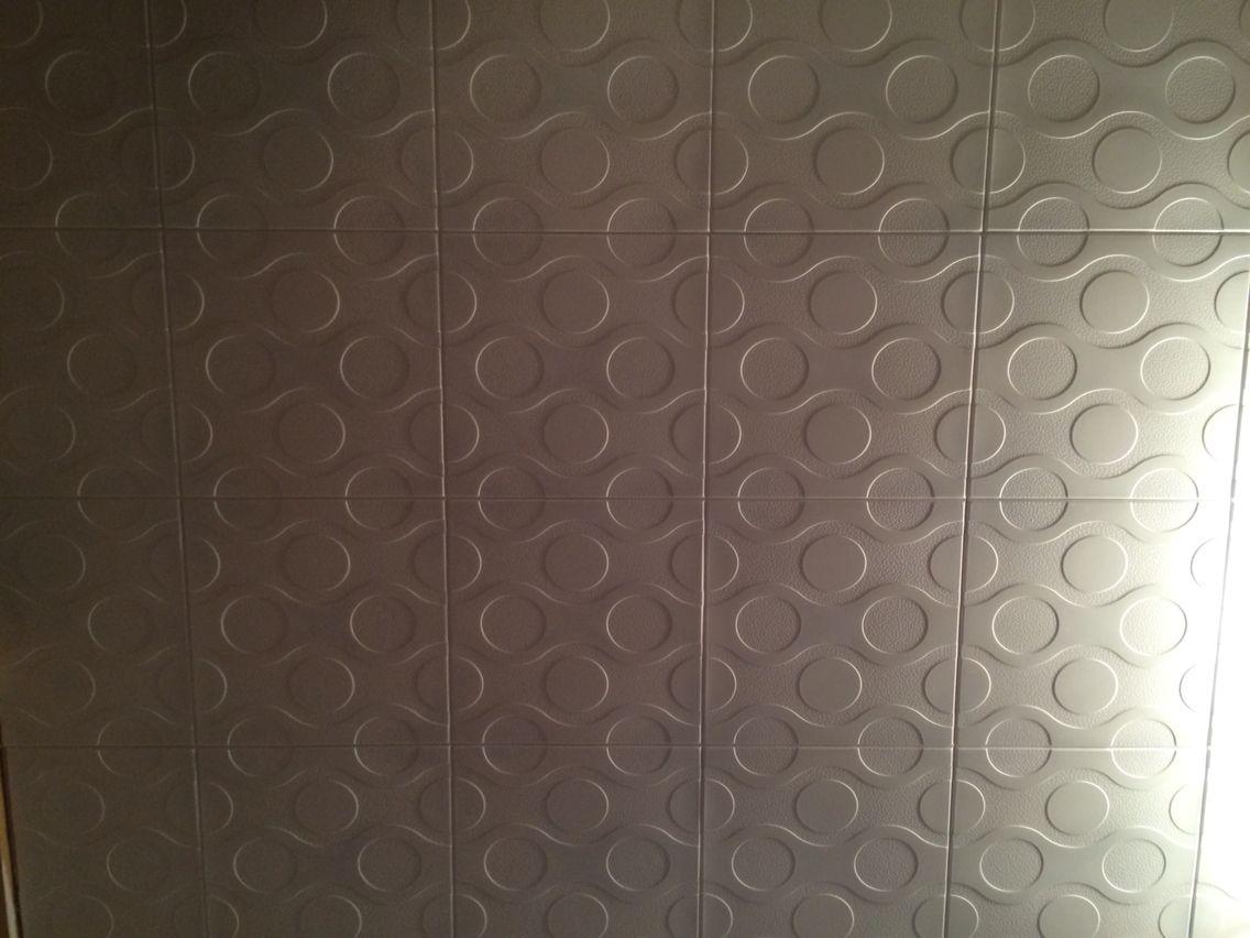 Glue Up Styrofoam Ceiling Tiles Master Bath Pinterest