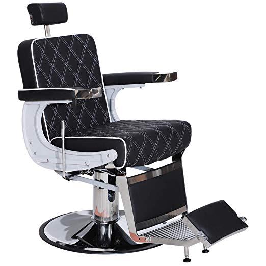 Amazon Com Barberpub Heavy Duty Metal Vintage Barber Chair All Purpose Hydraulic Recline Salon Beauty Spa Styling Equ Hair Salon Equipment Barber Chair Barber