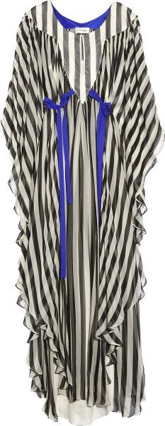 Temperley London Jester Amberley Striped Kaftan in Black - Lyst
