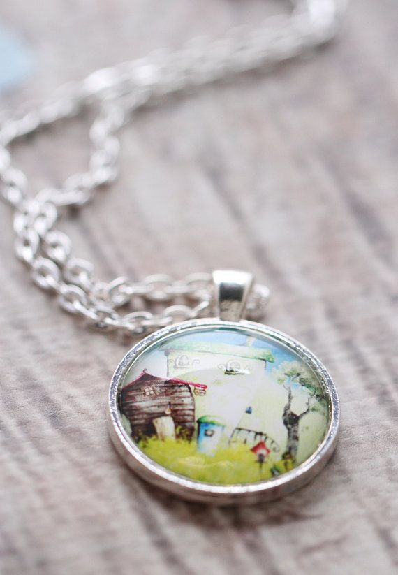 Whimsical Provence House Necklace