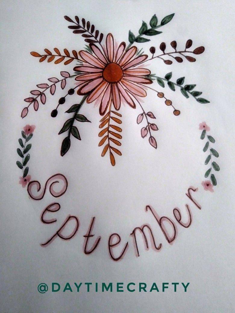 Bullet Journal September cover page. By: Daytimecrafty #bulletjournalideas #septemberbulletjournalcover Bullet Journal September cover page. By: Daytimecrafty #bulletjournalideas #septemberbulletjournalcover