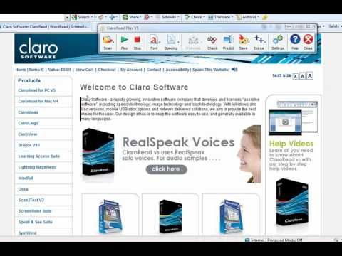 CloaroRead 05. Reading Text from Web Pages