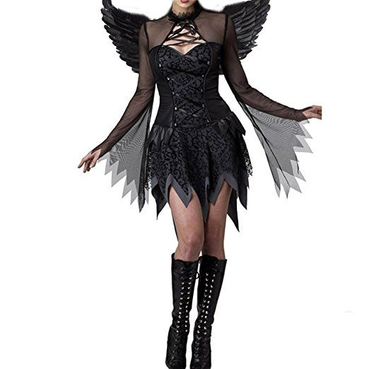 Nanxson Tm Damen Dark Angel Teufel Kostum Fur Erwachsene Exw0019