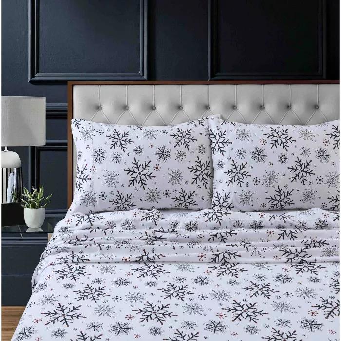 Printed Pattern Extra Deep Pocket Heavyweight Flannel Sheet Set Tribeca Living In 2020 Tribeca Living Bed Sheet Sets King Sheet Sets