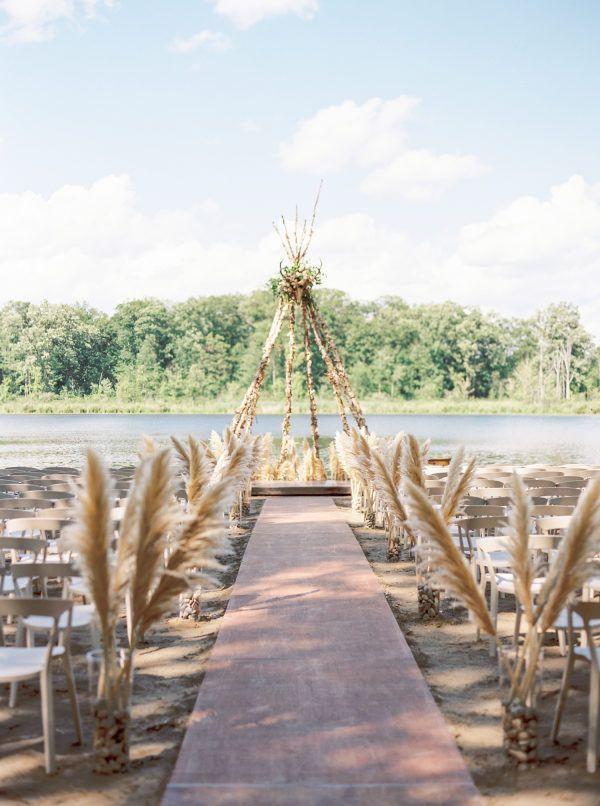 Floral Crowns + Boho Chic Ceremony Sites = Wedding Wonderland
