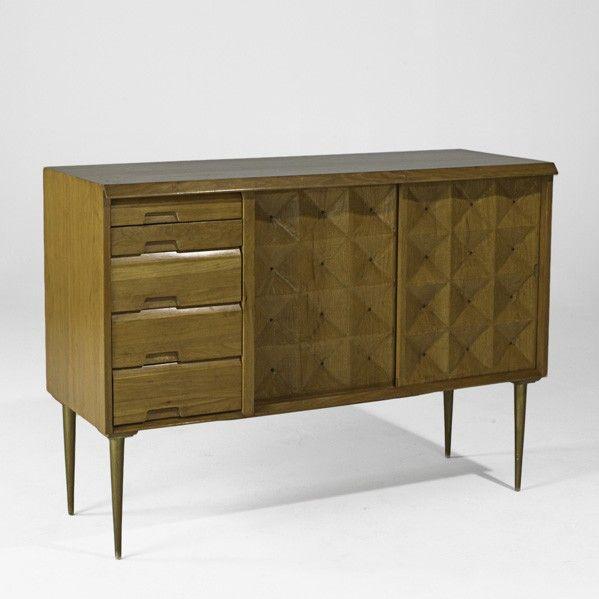 Edmund Spence; Birch and Brass Cabinet, 1950s.