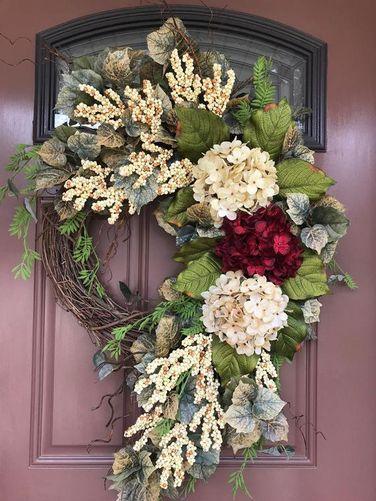 Photo of Etsy Wreaths, Summer Wreath, Hydrangea Wreath, Grapevine Wreath, Elegant Wreath, Front Door Wreath by DaydreamWreaths (Etsy Shop for DaydreamWreaths)