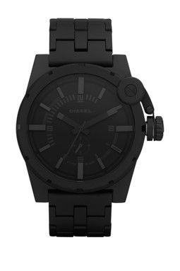 Men's Black Stainless Steel Watch