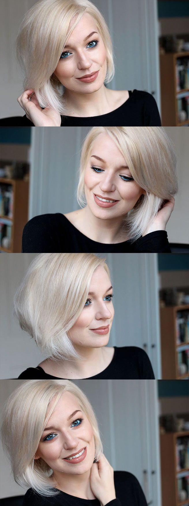 Platinum white blonde short hair zoe newlove modern pinterest