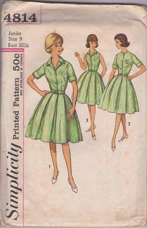Simplicity 4814 Vintage 60 S Sewing Pattern Fantastic Official 4 H Club Dress Uniform Blouse Blouse Pattern Sewing Simplicity Sewing Patterns Vintage Sewing