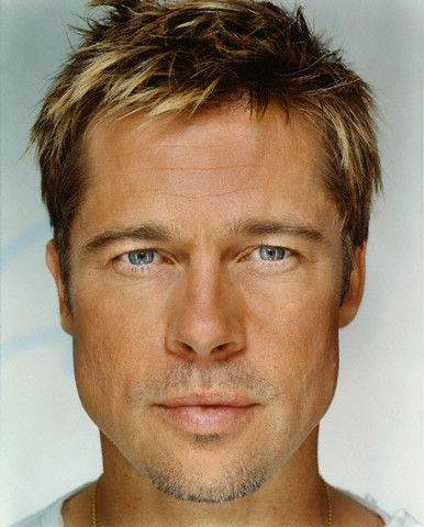 "Brad Pitt Hairstyles Brad Pitt ""up Close & Personal  Celebrity Photography""martin"