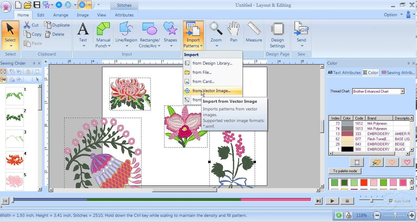 Import Tutorial Pe Design Next From Carol Price Embroidery Design Software Machine Embroidery Applique Embroidery Software