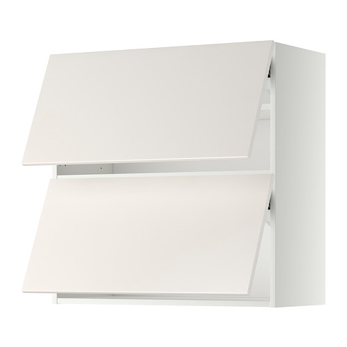 Best Metod Wall Cabinet Horizontal W 2 Doors White Veddinge 640 x 480