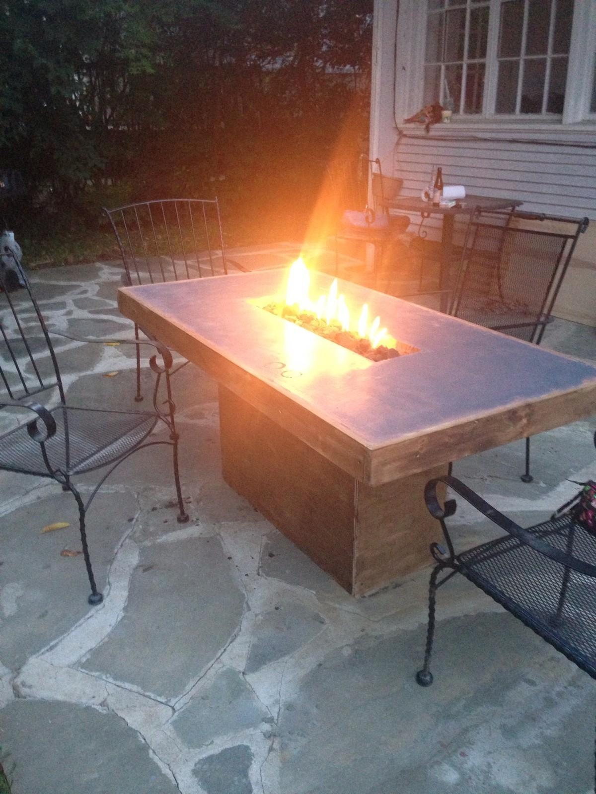 concrete fire table fire pit custom ebay outdoors glass fire pit fire pit table set fire. Black Bedroom Furniture Sets. Home Design Ideas
