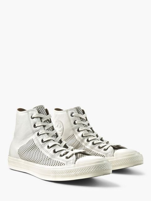 the best attitude e2085 7df93 CONVERSE CHUCK II PERFORATED LEATHER HIGH TOP TAN BELUGA 156720C US M 9 EUR  42.5  Converse  Sneakers