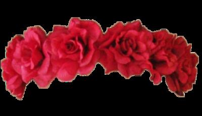 Transparent Overlays On Tumblr Flower Crown Drawing Red Flower Crown Red Flowers