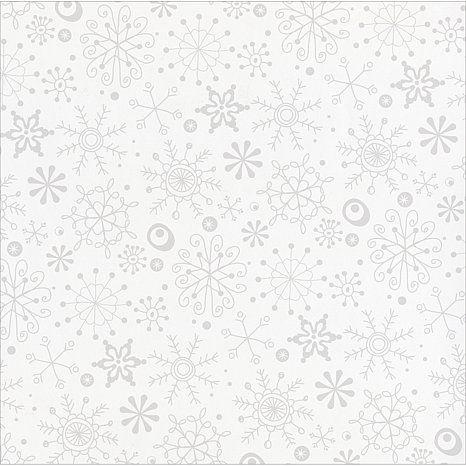 Bazzill Basics Glazed Cardstock - Snow Flurry