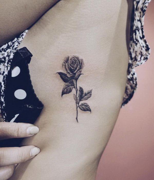 f135a4dfa Blackwork Rose Tattoo for Sexy Women. 30+ Beautiful Flower Tattoo Designs.