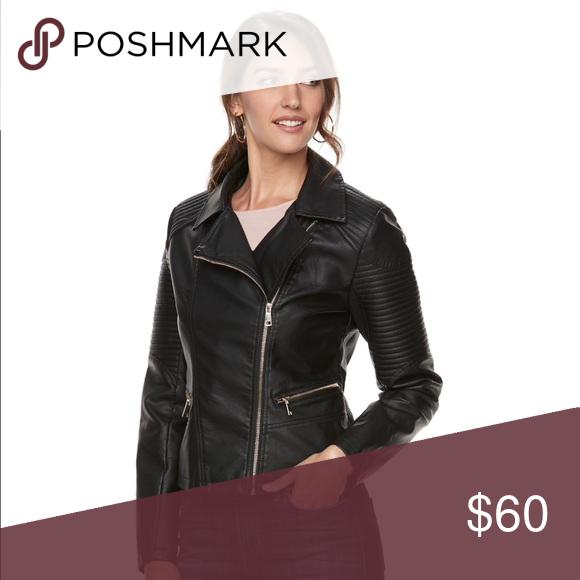 5ebca71dac4d APT. 9 textured faux leather moto jacket