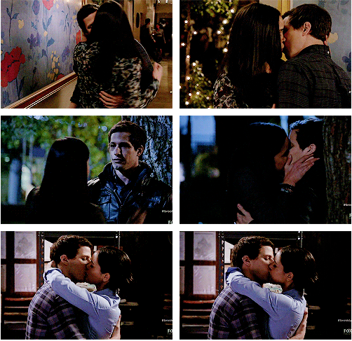 Jake And Amy Kisses Brooklyn Nine Nine Brooklyn Nine Nine Jake And Amy Brooklyn