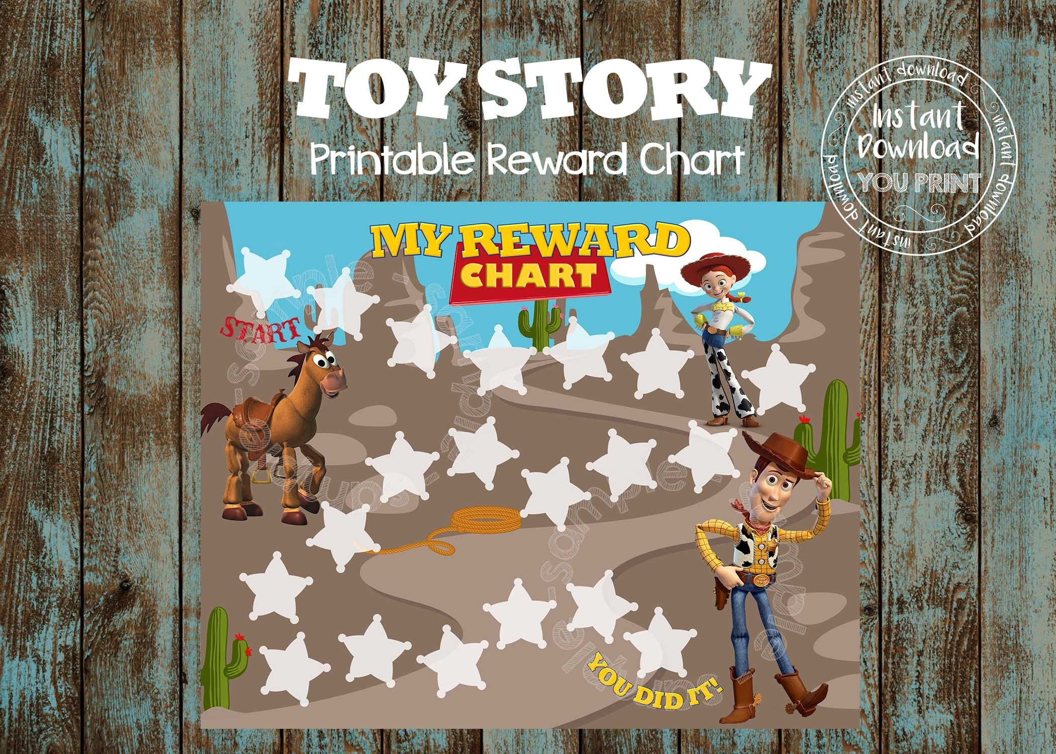 Printable Potty Training Chart Toy Story Potty Train