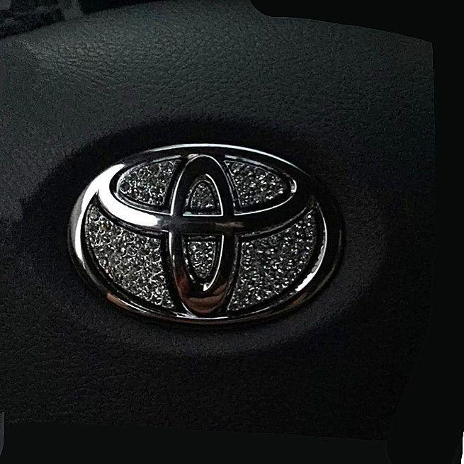 Bling Steering Wheel LOGO Emblem Sticker Decal For Toyota Corolla - Custom car bling decals