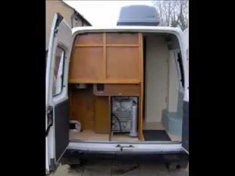 Diy self build camper van conversion project mr for Campervan furniture plans