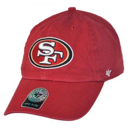 47 Brand San Francisco 49ers NFL Clean Up Strapback Baseball Cap Dad Hat  NFL Football Caps 67105dd76