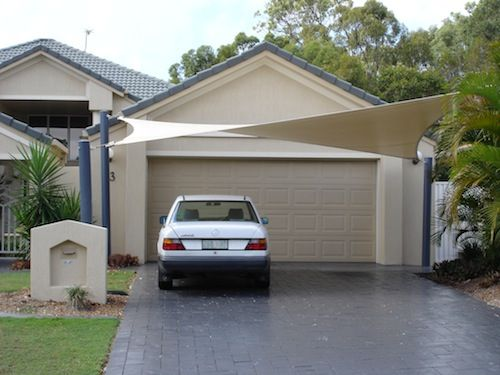 Shade sails as carport google search carports for Backyard carport designs