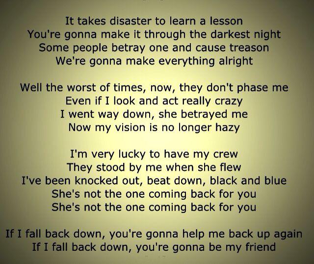 Rancid Fall Back Down Punk Rock Lyrics Lyric Quotes Everything Will Be Alright