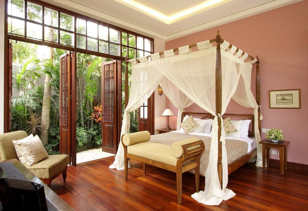 Chambre balinaise dans villa haut de gamme à Bali #BedroomIdeas