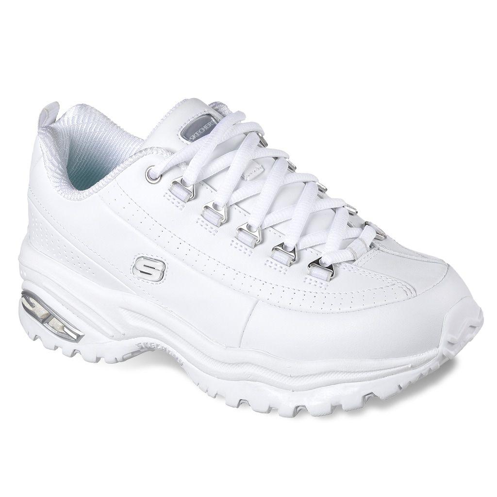 girls white skechers