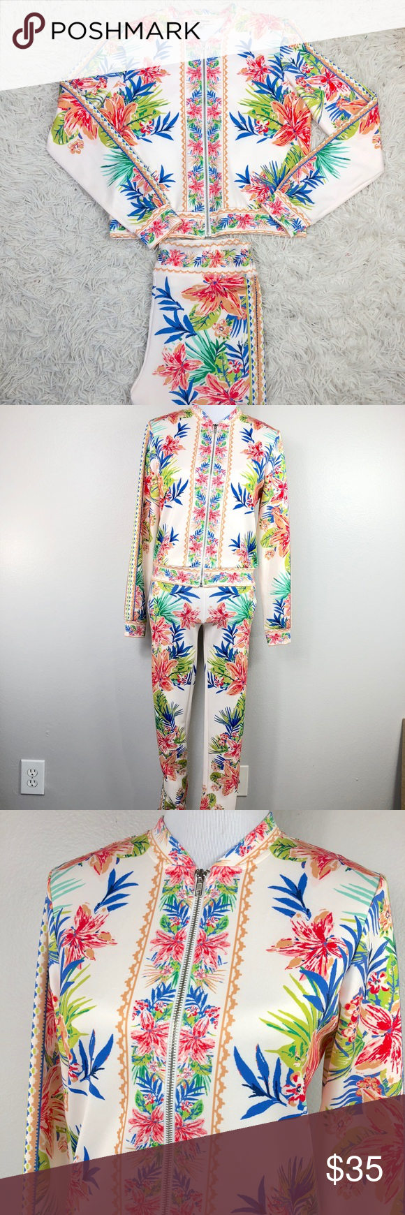 Floral Tracksuit Jacket and Pants.