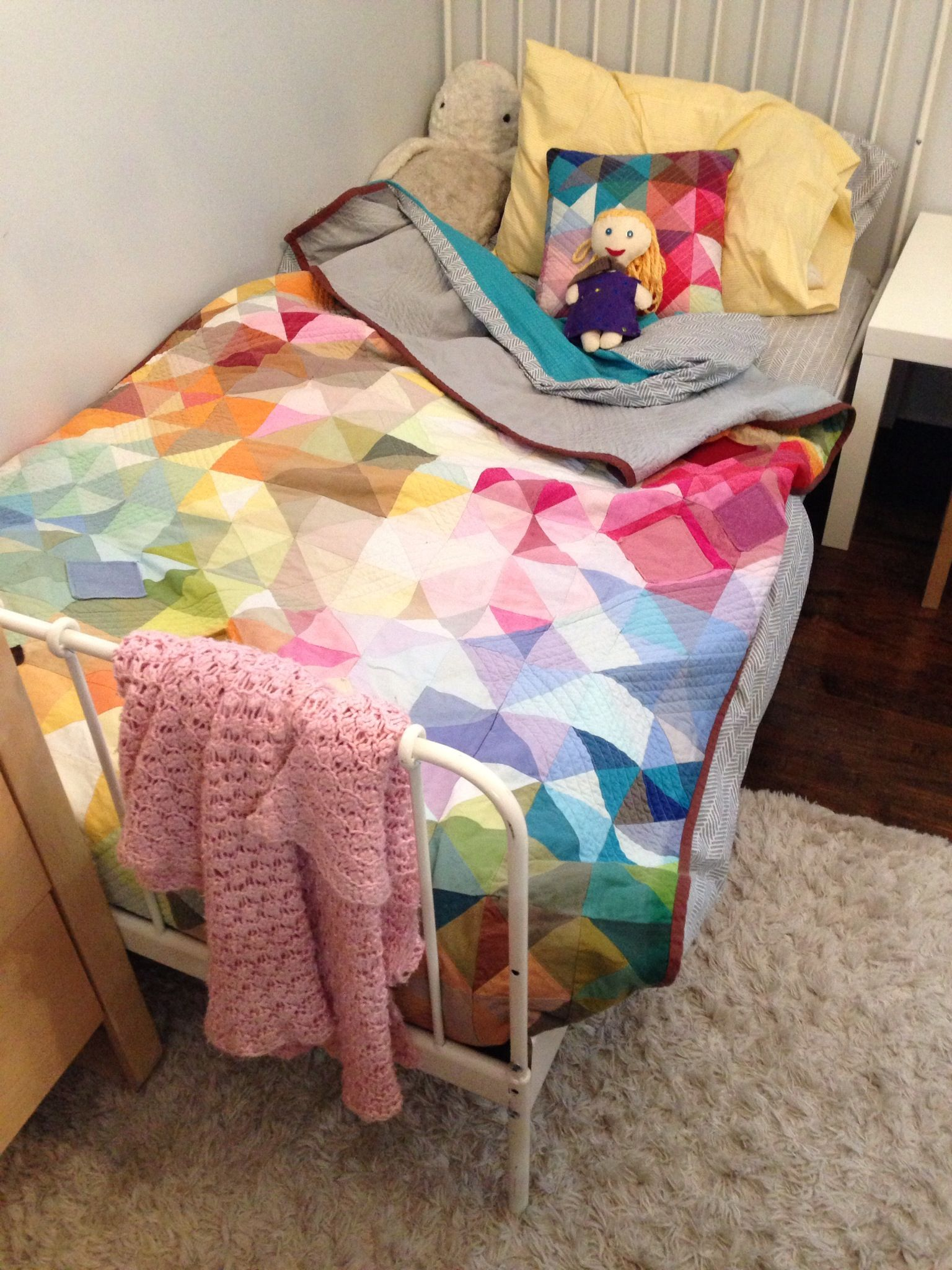 Colorful, modern kids quilt by Angela Flicker and The Artists ... : modern kids quilts - Adamdwight.com