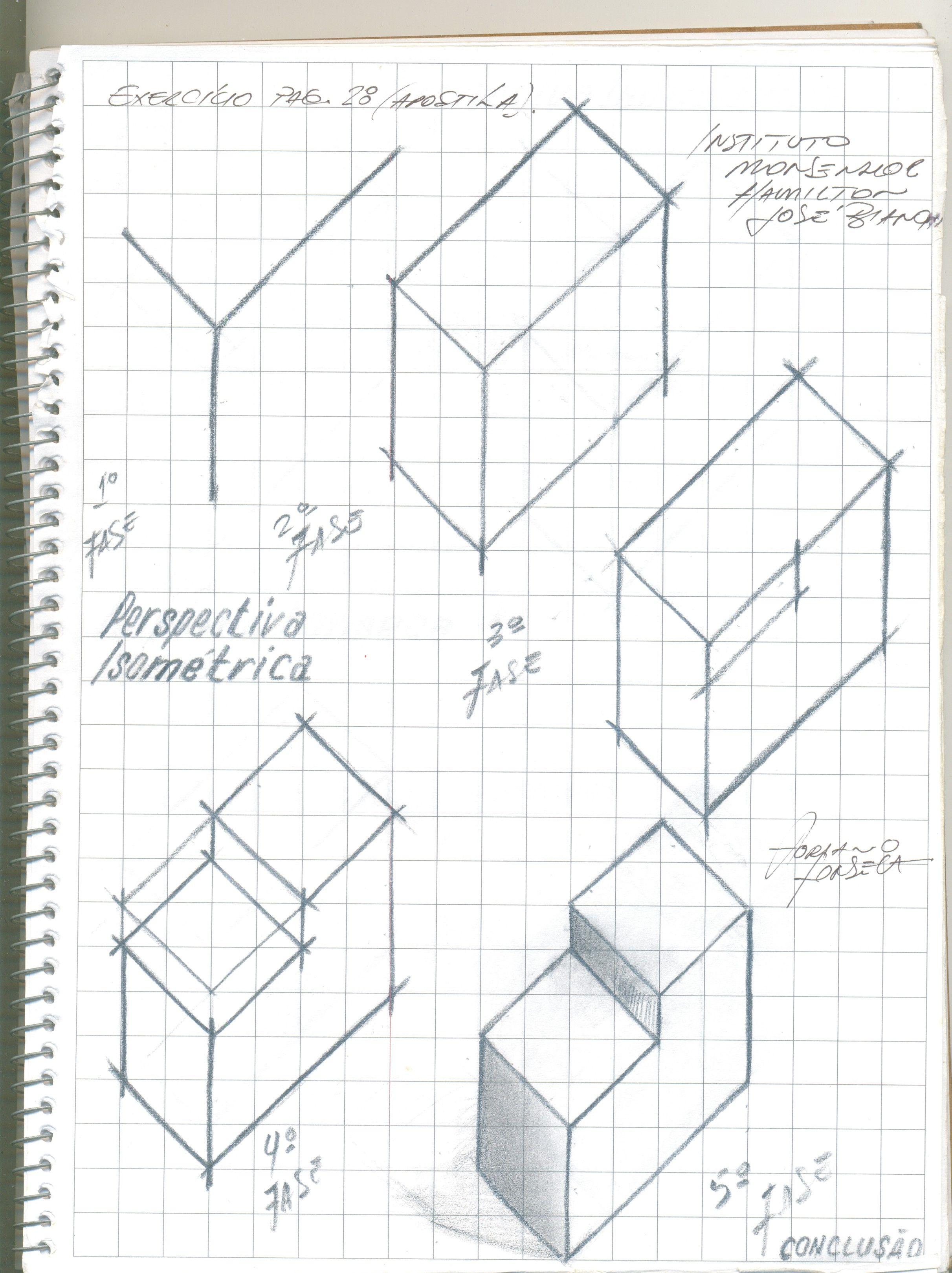 Desenho Técnico - Caderno de Desenho. | Desenhista de Mecânica ...