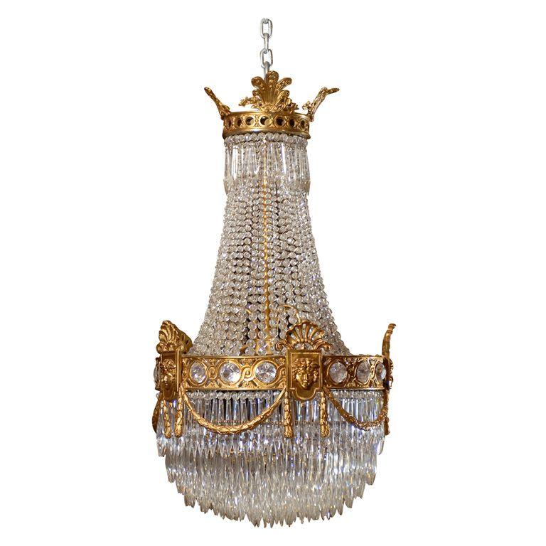 Baccarat basket style antique chandelier pendant lighting baccarat basket style antique chandelier aloadofball Choice Image