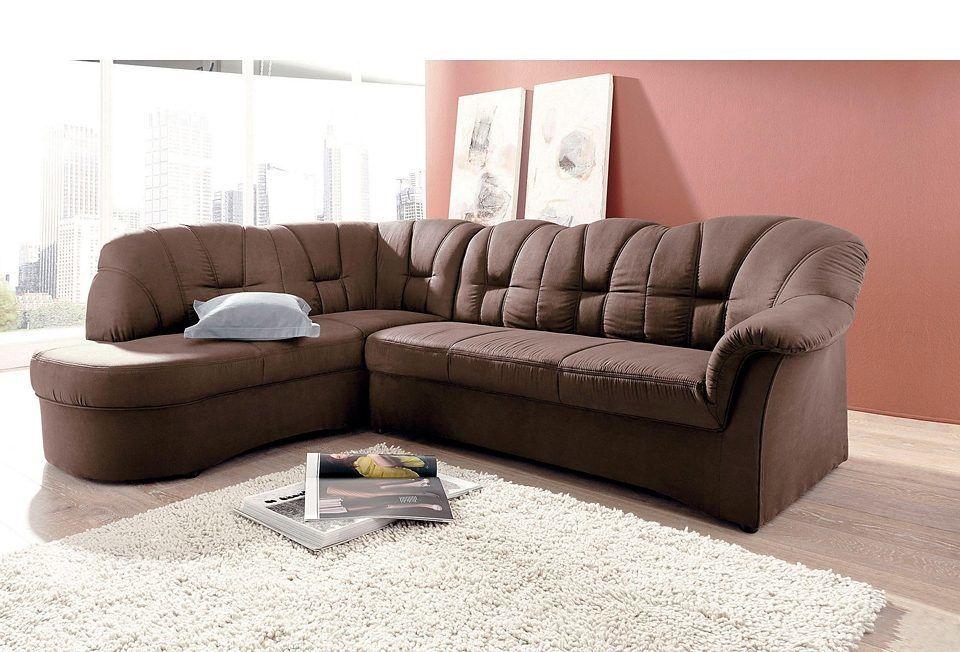 Ecksofa braun, Ottomane links, mit Schlaffunktion, FSC®-zertifiziert - wohnzimmer bilder braun beige