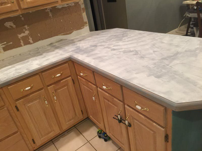 The Easiest Least Expensive Way To Get A Realistic Looking Faux Marble Countertop Outdoor Kitchen Countertops Faux Marble Countertop Kitchen Marble