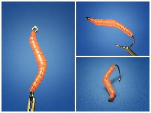 Bass, Bream, Trout, Crappie Aquatic Earthworm 6 flies Fly Fishing Flies