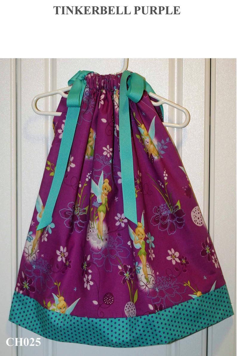 Featuring Tinkerbell Dark Purple - Pillowcase Dress - Sizes 3 months,thru 6/7 :CH025