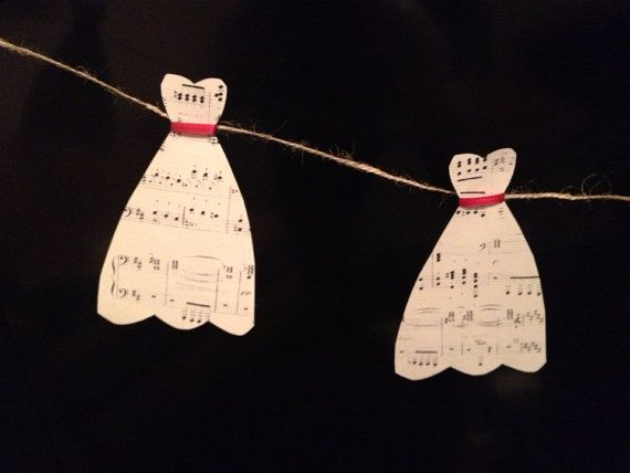 music sheet wedding dress banner on etsy 500 wedding showers bridal shower wedding