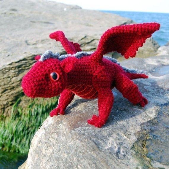 Crochet Pattern - Baby Dragon Amigurumi - PDF - for Ellen!