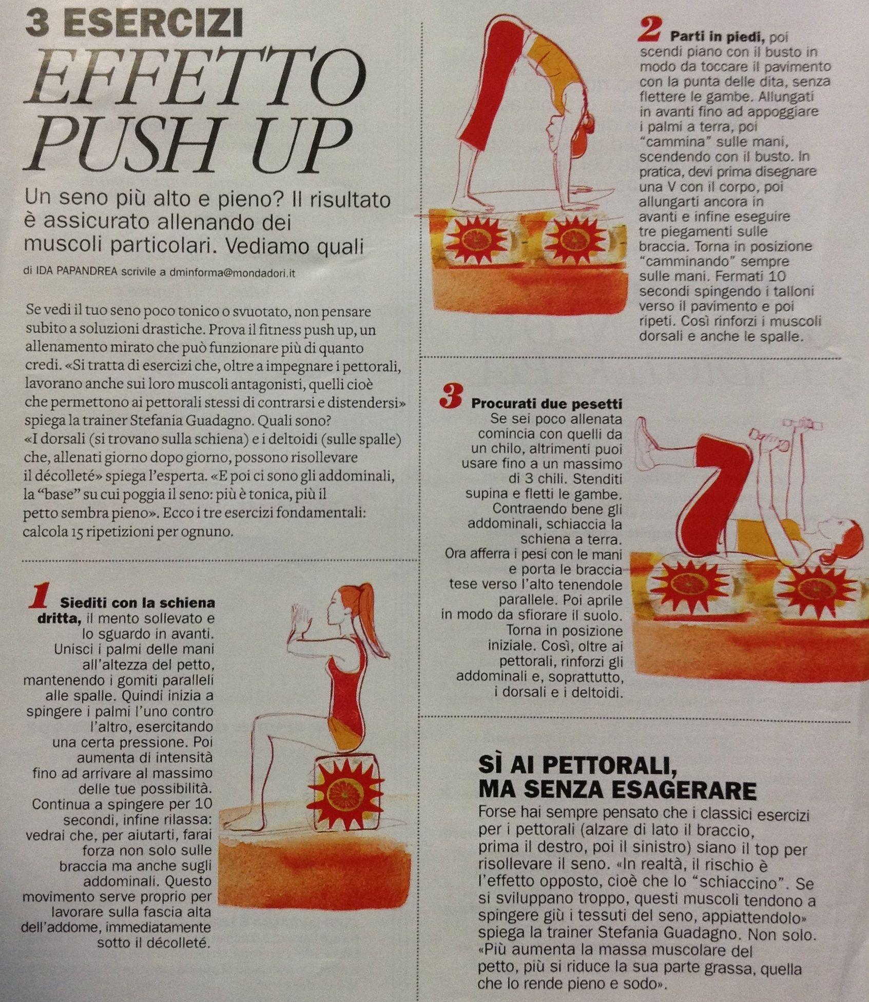 3 esercizi effetto push up