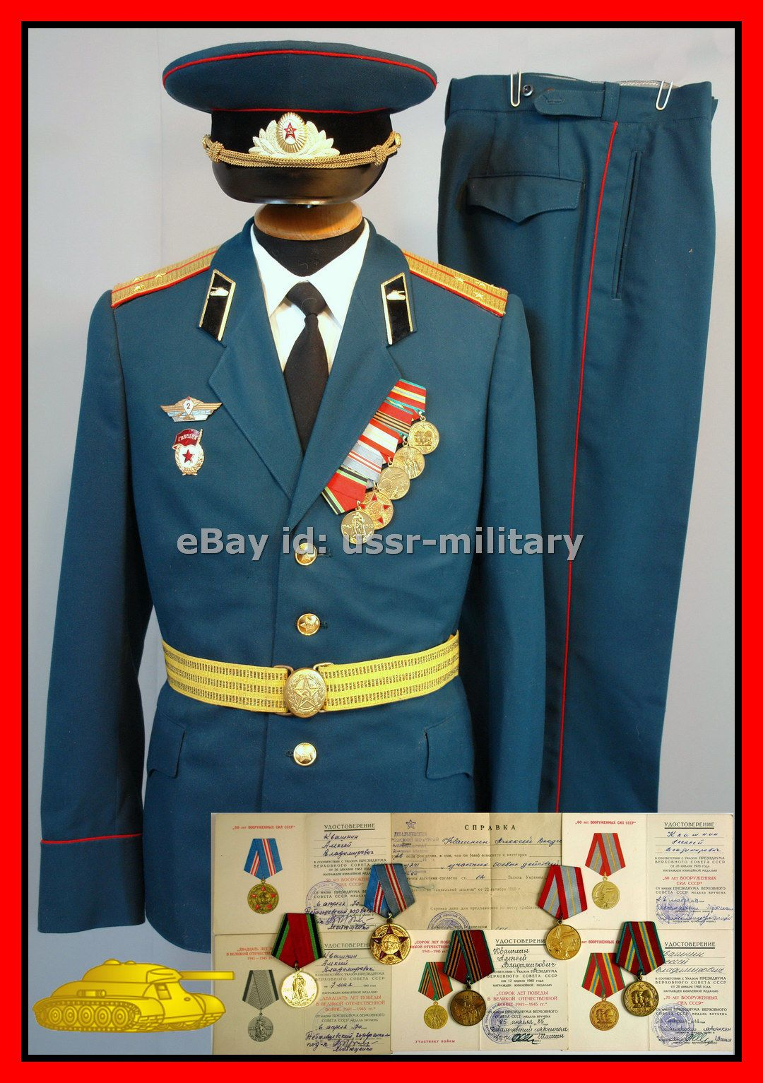 7bc456bb9ab RAR Original Soviet military Parade uniform Tank Troops USSR Russian ...