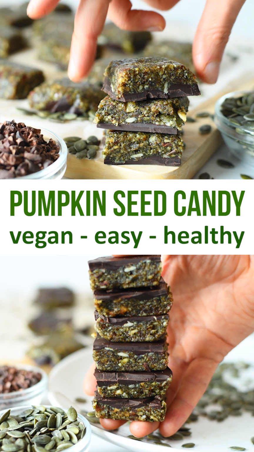 3 Ingredient Pumpkin Seed Chocolate Candy Is The H