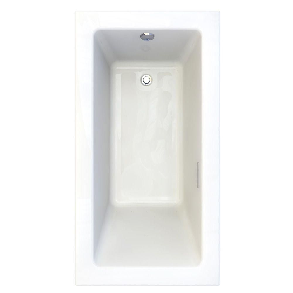 American Standard Studio 5 ft. x 32 in. Reversible Drain EverClean Air Bath Tub with Chromatherapy Arctic White