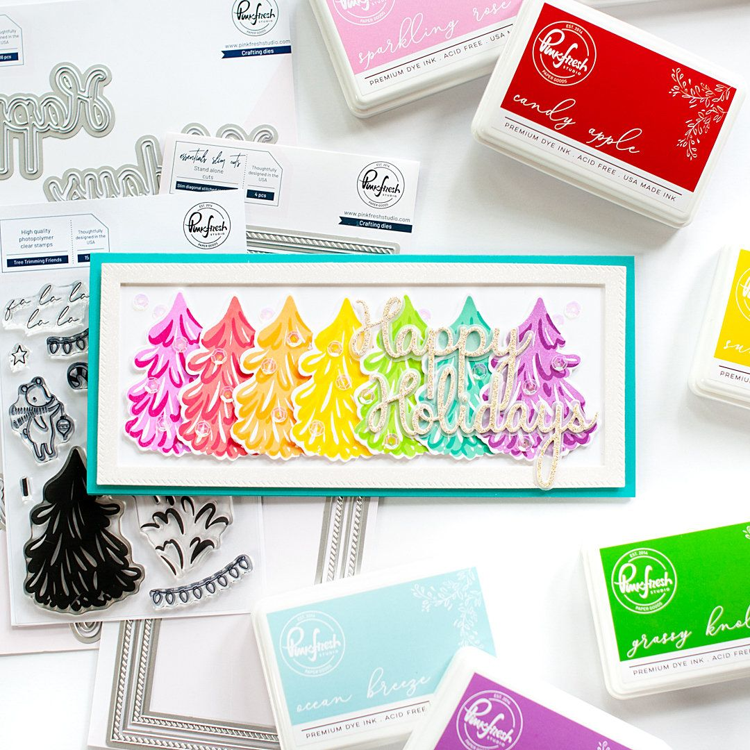 PINKFRESH STUDIO SEPTEMBER 2020 HOLIDAY STAMP & DIE