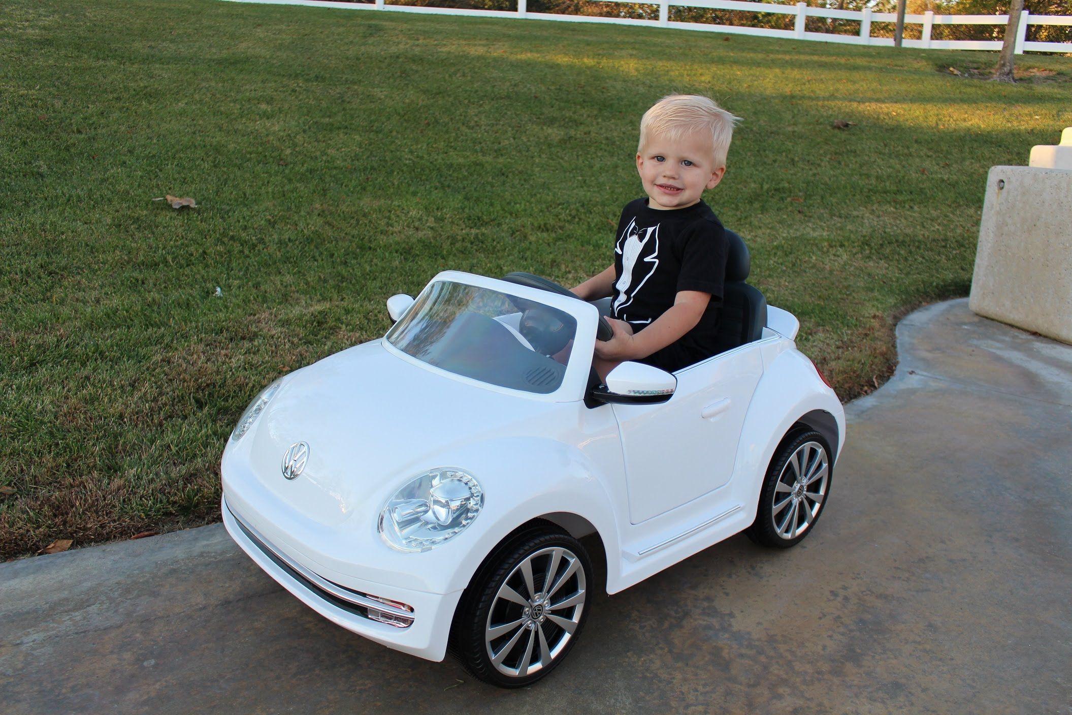 pretty nice vw bug ride on car lightning mcqueen power wheels race